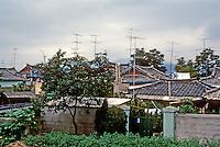 So. Korea: Kyong-Ju--houses, gardens. Photo '81.