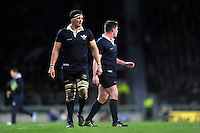 Nic Roberts-Huntley of Oxford University looks on during a break in play. The Varsity Match between Oxford University and Cambridge University on December 10, 2015 at Twickenham Stadium in London, England. Photo by: Patrick Khachfe / Onside Images