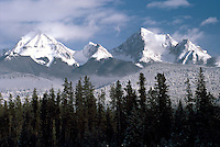Kootenay National Park, Canadian Rockies, BC, British Columbia, Canada - Snow Covered Mitchell Range Mountains, Winter