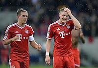 Fussball  1. Bundesliga  Saison 2013/2014   11. Spieltag  in Sinzheim TSG 1899 Hoffenheim - FC Bayern Muenchen    02.11.2013 Bastian Schweinsteiger (re, FC Bayern Muenchen) und Philipp Lahm (FC Bayern Muenchen)