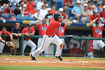 Mississippi's Kevin Mort bats vs. South Carolina during the Southeastern Conference tournament at Regions Park in Hoover, Ala. on Wednesday, May 26, 2010. Ole Miss won 3-0.