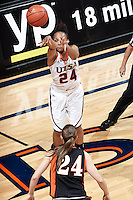 SAN ANTONIO, TX - NOVEMBER 1, 2013: The East Central University Tigers versus the University of Texas at San Antonio Roadrunners Women's Basketball Team at the UTSA Convocation Center. (Photo by Jeff Huehn)