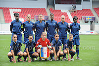 The French team during the UEFA Womens U19 Semi-Final at Parc y Scarlets Wednesday 28th August 2013. All images are the copyright of Jeff Thomas Photography-www.jaypics.photoshelter.com-07837 386244-Any use of images must be authorised by the copyright owner.
