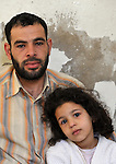 Galal Mohammad Adnana Turky and his daughter Hagar, 7, are refugees from Homs, Syria, who are living in Amman, Jordan. The family is receiving some assistance from International Orthodox Christian Charities, a member of the ACT Alliance.