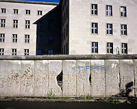 A section of the Berlin wall which serves as a memorial.
