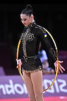August 10, 2012; London, Great Britain;  ALINA MAKSYMENKO of Ukraine begins hoop routine during AA final at London 2012 Olympics.