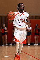 SAN ANTONIO, TX - JANUARY 5, 2009: The Texas Wesleyan University Rams vs. The University of Texas at San Antonio Roadrunners Men's Basketball at the UTSA Convocation Center. (Photo by Jeff Huehn)