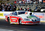 May 18, 2012; Topeka, KS, USA: NHRA pro stock driver Mike Edwards during qualifying for the Summer Nationals at Heartland Park Topeka. Mandatory Credit: Mark J. Rebilas-