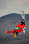 19 January 2008: Olympic Silver Medalist Nina Li from China takes a practice jump prior the FIS World Cup Freestyle Ladies' Aerial Competition at the MacKenzie Ski Jump Complex in Lake Placid, New York, USA...Mandatory Photo Credit: Ed Wolfstein Photo