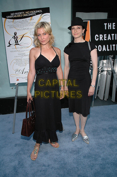 "26 July 2005 - New York, New York - Amy Carlson and Bebe Neuwirth arrive at the premiere of their new film, ""The Aristocrats"", at The Directors Guild Theater in Manhattan.  .Photo Credit: Patti Ouderkirk/AdMedia"
