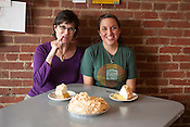 Lemon Meringue Pie from Brooke Erceg, right, owner of Cup A Joe in Hillsborough, who learned the recipe from her grandmother, Monday, Nov. 19, 2012.