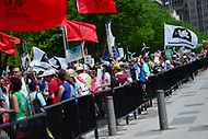 Washington, DC - April 29, 2017: Thousands of people march through the streets of the District of Columbia and surround the White House April 29, 2017 to support environmental protection. (Photo by Don Baxter/Media Images International)