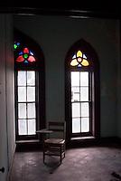 Abandoned school room in catholic school downtown Vicksburg, Mississippi