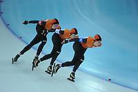 OLYMPICS: SOCHI: Adler Arena, 22-02-2014, Team Pursuit, TeamNL (NED), Jorien Ter Mors, Marrit Leenstra, Ireen Wüst, ©photo Martin de Jong