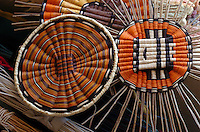 Ruby Chimerica says the elders gives her grief.for her weavings left open and uncompleted..She says the style is popular and sells well.