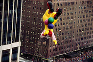 Manhattan, New York City, NY. November 26, 1987. The Ronald McDonald float appears for the first time at the Macy's Thanksgiving Parade in 1987 and will be removed in 1994.