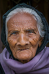 Portrait of an elderly woman, Gujarat, India