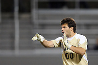 UMBC Retrievers goalkeeper Dan Louisignau (00). UMBC Retrievers defeated Princeton Tigers 2-1 during the first round of the 2010 NCAA Division 1 Men's Soccer Championship at Roberts Stadium in Princeton, NJ, on November 18, 2010.