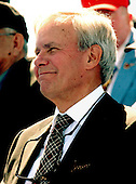 Washington, D.C. - May 29, 2004 -- NBC News anchor Tom Brokaw smiles as United States President George W. Bush makes remarks at the dedication of the World War Two Memorial in Washington, D.C. on May 29, 2004..Credit: Ron Sachs / CNP