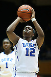 23 November 2012: Duke's Chelsea Gray. The Duke University Blue Devils played the Valparaiso University Crusaders at Cameron Indoor Stadium in Durham, North Carolina in an NCAA Division I Women's Basketball game. Duke won the game 90-45.