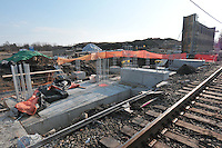 Construction Progress Photography of the Railroad Station at Fairfield Metro Center - Site visit 5 of once per month Chronological Documentation.