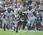 Vanderbilt wide receiver Udom Umoh (4) runs in Nashville, Tenn. on Saturday, September 17, 2011. Vanderbilt won 30-7..