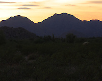Quiet sunset over the hills of San Tan Regional Park - Queen Creek, AZ