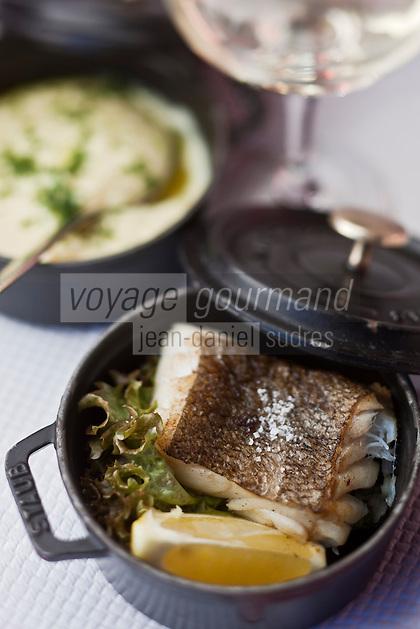 Europe/France/Rhône-Alpes/74/Haute-Savoie/Megève: Cabillaud plein beurre au Restaurant d'Altitude: L'Alpette au sommet de Rochebrune