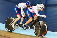 Picture by Alex Whitehead/SWpix.com - 02/03/2017 - Cycling - UCI Para-cycling Track World Championships - Velo Sports Center, Los Angeles, USA - Great Britain's Alison Patrick (piloted by Helen Scott)