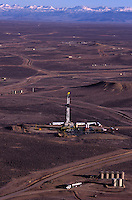 Aerial pictures of oil drilling pads in the Jonah field where the landscape is dotted with active and reclaimed sites.  Wyoming's Red Desert was included in The Wilderness Society's list of &quot;15 Most Endangered Wildlands&quot; because of a boom in the already massive oil and gas development in the wild heart of the 600,000 acres. ..20-acre well spacing in parts of the field is currently under evaluation by field operators. Exploitation of this potential will require further engineering evaluation, but also approval by the Wyoming Oil and Gas Conservation Commission as well as the BLM.