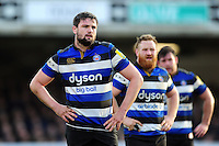 Elliott Stooke of Bath Rugby looks on. Aviva Premiership match, between Bath Rugby and Harlequins on February 18, 2017 at the Recreation Ground in Bath, England. Photo by: Patrick Khachfe / Onside Images