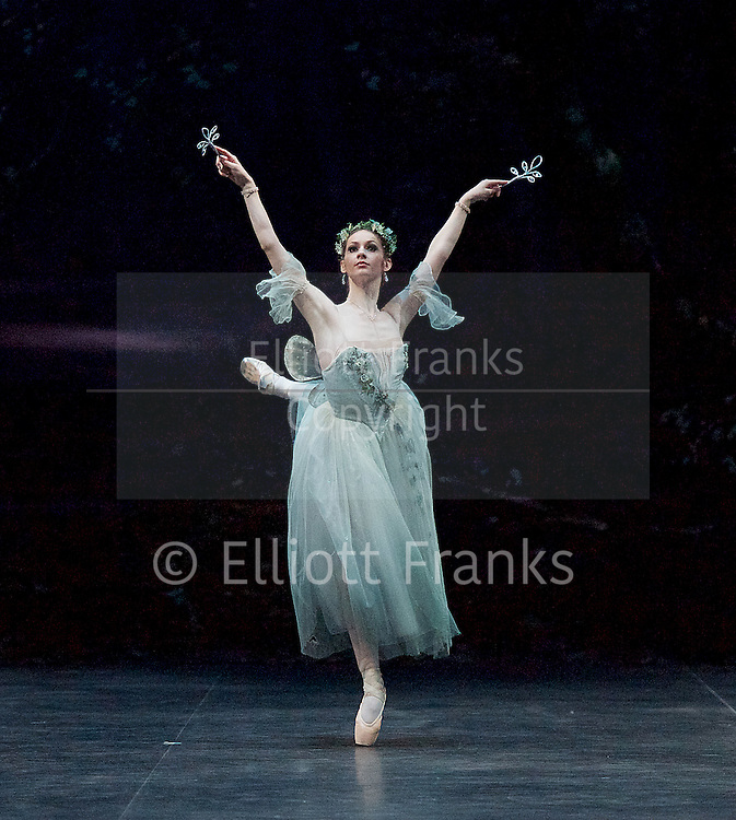 Giselle <br /> English National Ballet at The London Coliseum, London, Great Britain <br /> rehearsal <br /> 10th January 2017 <br /> <br /> Laurretta Summerscales <br /> as Myrtha <br /> <br /> Photograph by Elliott Franks <br /> Image licensed to Elliott Franks Photography Services