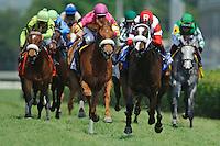 Louisville, KY- May 04:John Velazquez aboard Stephanie's Kitten  wins The Edgewood Stakes on Kentucky Oaks Day at Churchill Downs in Louisville, KY on 05/04/12. Trained by Wayne Catalano(Ryan Lasek/ Eclipse Sportswire)