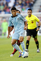 Sporting KC midfielder Jeferson in action,.. Sporting Kansas City defeated Real Salt Lake 2-0 at LIVESTRONG Sporting Park, Kansas City, Kansas.