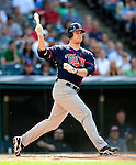 5 September 2009: Minnesota Twins' first baseman Justin Morneau at bat against the Cleveland Indians at Progressive Field in Cleveland, Ohio. The Twins defeated the Indians 4-1 in the second game of their three-game weekend series. Mandatory Credit: Ed Wolfstein Photo