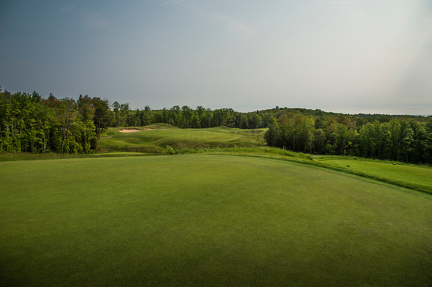 Sweeping vistas at the Greywalls course at Marquette Golf and Country Club of Marquette, Michigan.