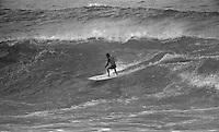 Jeff Hackman (HAW), winner of the 1976 Rip Curl Bells Beach Easter Rally Bells Beach, Torquay, Victoria, Australia. Hackman was the first forgien surfer to win the Bells Beach contest.  circa 1976..Photo: Joliphotos.com