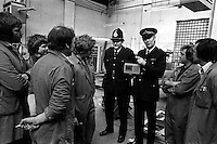 Pix: Barry Wilkinson/SWpix.com. The Yorkshire Ripper Archive. 14th May 1979 - 11th May1980...COPYRIGHT PICTURE>>SIMON WILKINSON>>0870 092 0092>>..Police play the Ripper tape at the Polo Garage.
