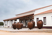 Winery building. With huge amphoras. Herdade das Servas, Estremoz, Alentejo, Portugal