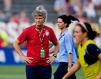 Pia Sundhage. The USWNT defeated Sweden, 3-0.