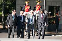 Ministers waiting Italian president MArio Monti