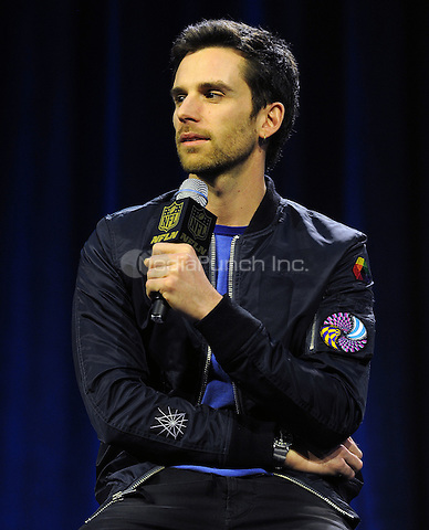 SAN FRANCISCO, CA - FEBRUARY 4: Guy Berryman of Coldplay at the press conference for the Super Bowl 50 Halftime at the Moscone Center on February 4, 2016 in San Francisco, California. Credit: PGFM/MediaPunch
