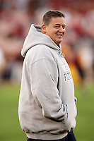 25 November 2006:  Head Coach Charlie Weis before the start of NCAA College Football final home game of the season for the University of Southern California USC Trojans with a 44-24 victory over the University of Notre Dame Irish at the LA Memorial Coliseum.<br />