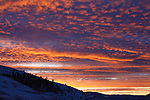 Winter sunset clouds from the Mission Valley in western Montana