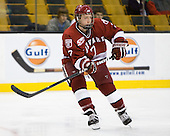 Danny Fick (Harvard - 7) - The Northeastern University Huskies defeated the Harvard University Crimson 4-0 in their Beanpot opener on Monday, February 7, 2011, at TD Garden in Boston, Massachusetts.