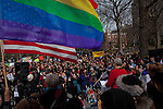 Gays and lesbian protest by the gay marriage equality rights in New York