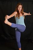 Stock photography of Woman doing yoga