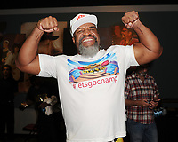 HOLLYWOOD FL - MAY 09: Two time Heavyweight World Champion Shannon Briggs attends a press conference for the fight on June 3rd Briggs Vs Oquendo at Hard Rock Live held at the Seminole Hard Rock Hotel & Casino on May 9, 2017 in Hollywood, Florida. Credit: mpi04/MediaPunch