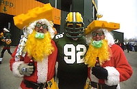 Green Bay Packers fans tailgating prior to the December 22, 1996 game against the Minnesota Vikings.