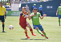 Seattle, Washington - May 31, 2014: The Seattle Sounders FC defeated Real Salt Lake 4-0 during a Major League Soccer (MLS) game at Century Link field.